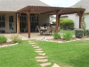 Backyard Landscape Idea   Pergola On Extended Patio