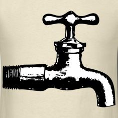 Bathroom Cartoon Color Coloring Faucet Pages Plumbing Sink Tap