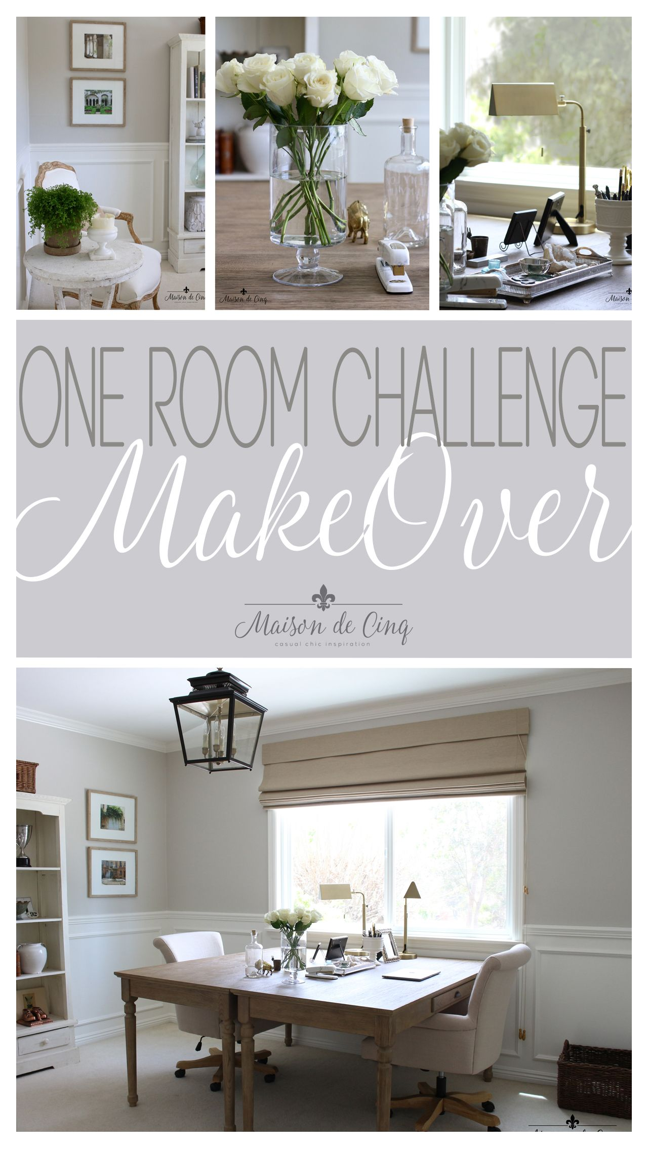 French Inspired Home Office Makeover One Room Challenge Reveal French Inspired Home Home Office Design French Country Bedrooms One room challenge installation