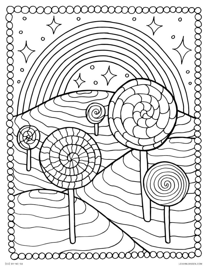 Rainbow Coloring Pages Mandala Coloring Pages Candy Coloring