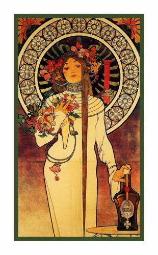 La Trapistine by Alphonse Mucha Counted Cross Stitch or Counted Needlepoint Pattern