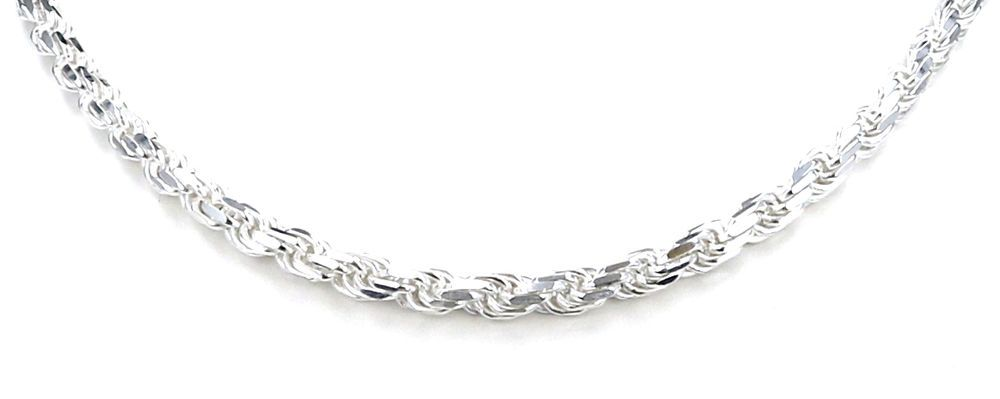 Genuine 925 Sterling Silver 1.5mm Diamond Cut Ball Bead Chain Necklace