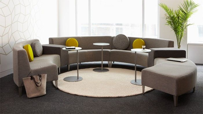 Integrated Power + Mix And Match Chairs, Love Seats And Tables | HPFI Eve  Curved Modular Seating | Powered Furniture U0026 Sources | Pinterest | Library  ...