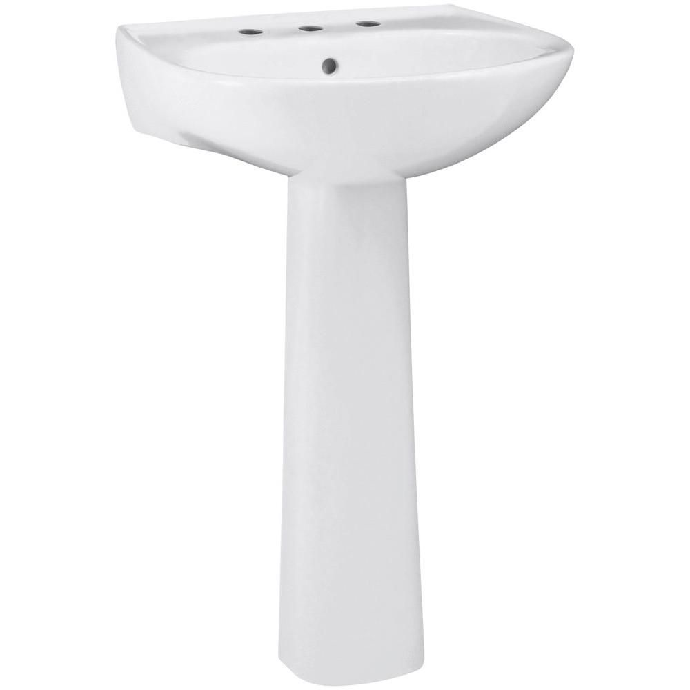 Sterling Sacramento Vitreous China Pedestal Combo Bathroom Sink In