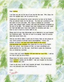 EzsantalettersCom  Santa Letter For An Older Child  Santa