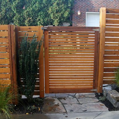 Seattle Home Horizontal Slat Fence Design Ideas Pictures Remodel And Decor Fence Design Unique Fence Ideas Backyard Fences