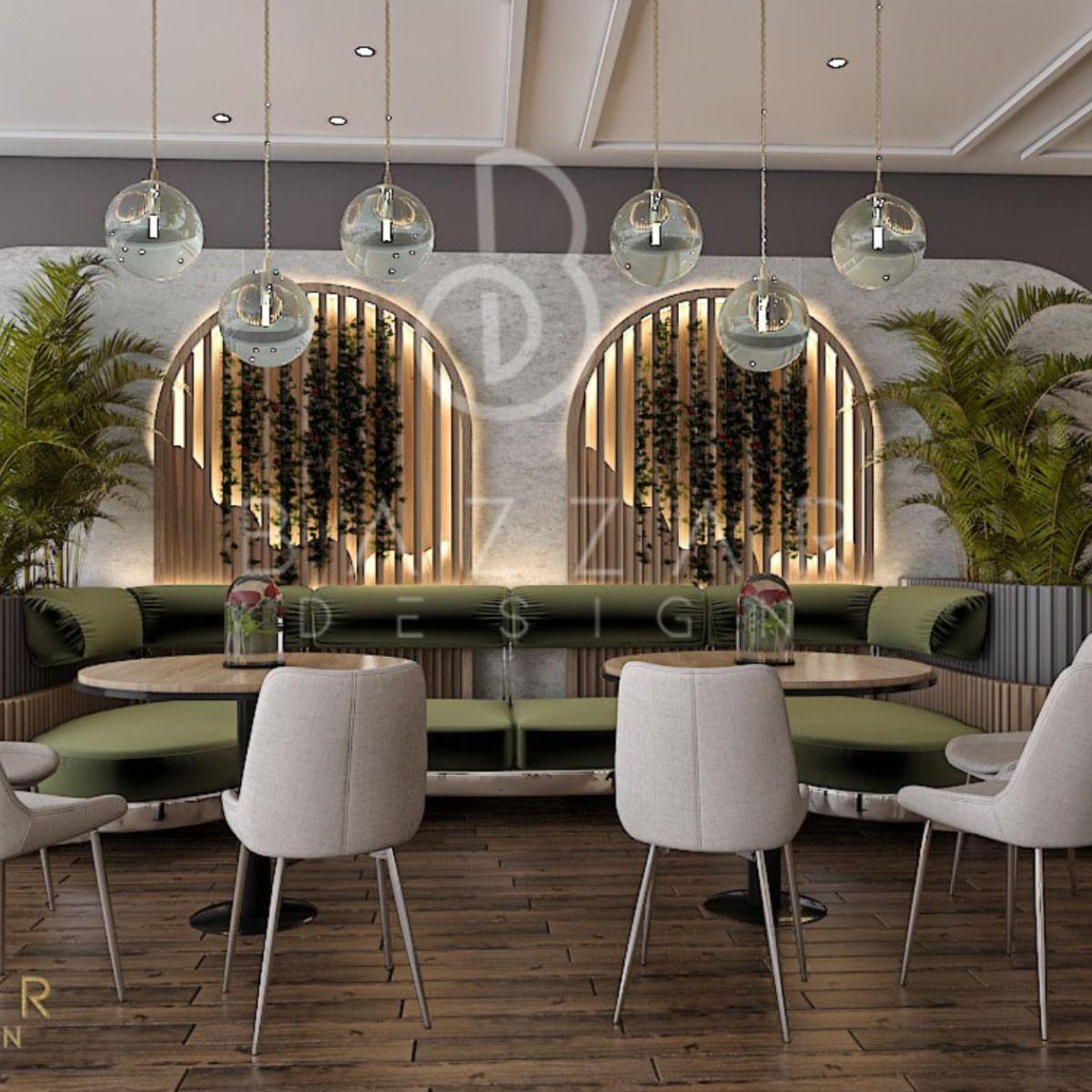 تصميم كافية على الطراز المودرن In 2021 Coffee Shop Interior Design Interior Design Shop Interiors