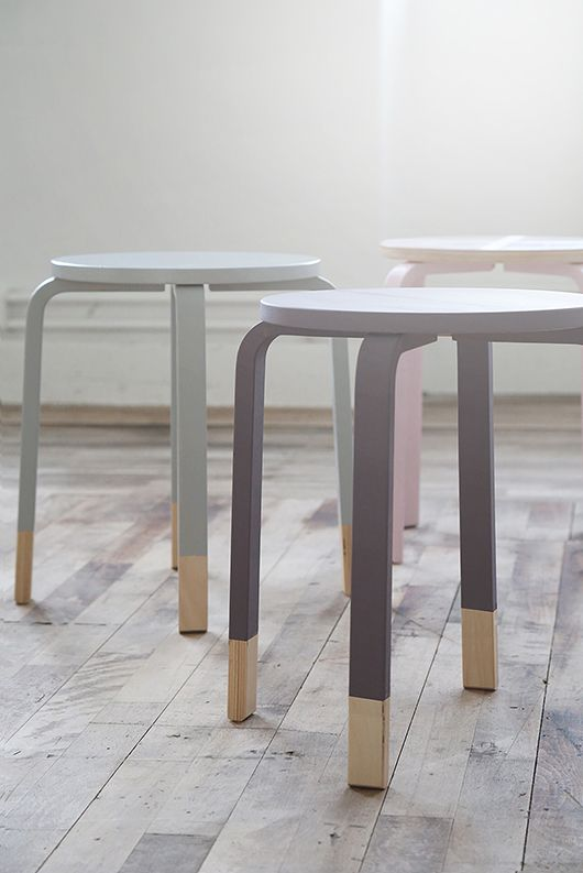 DIY Painted IKEA stools