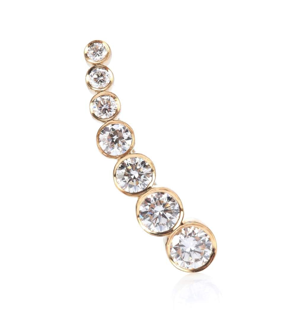Sophie Bille Brahe 18kt gold earring with diamonds TktaorU