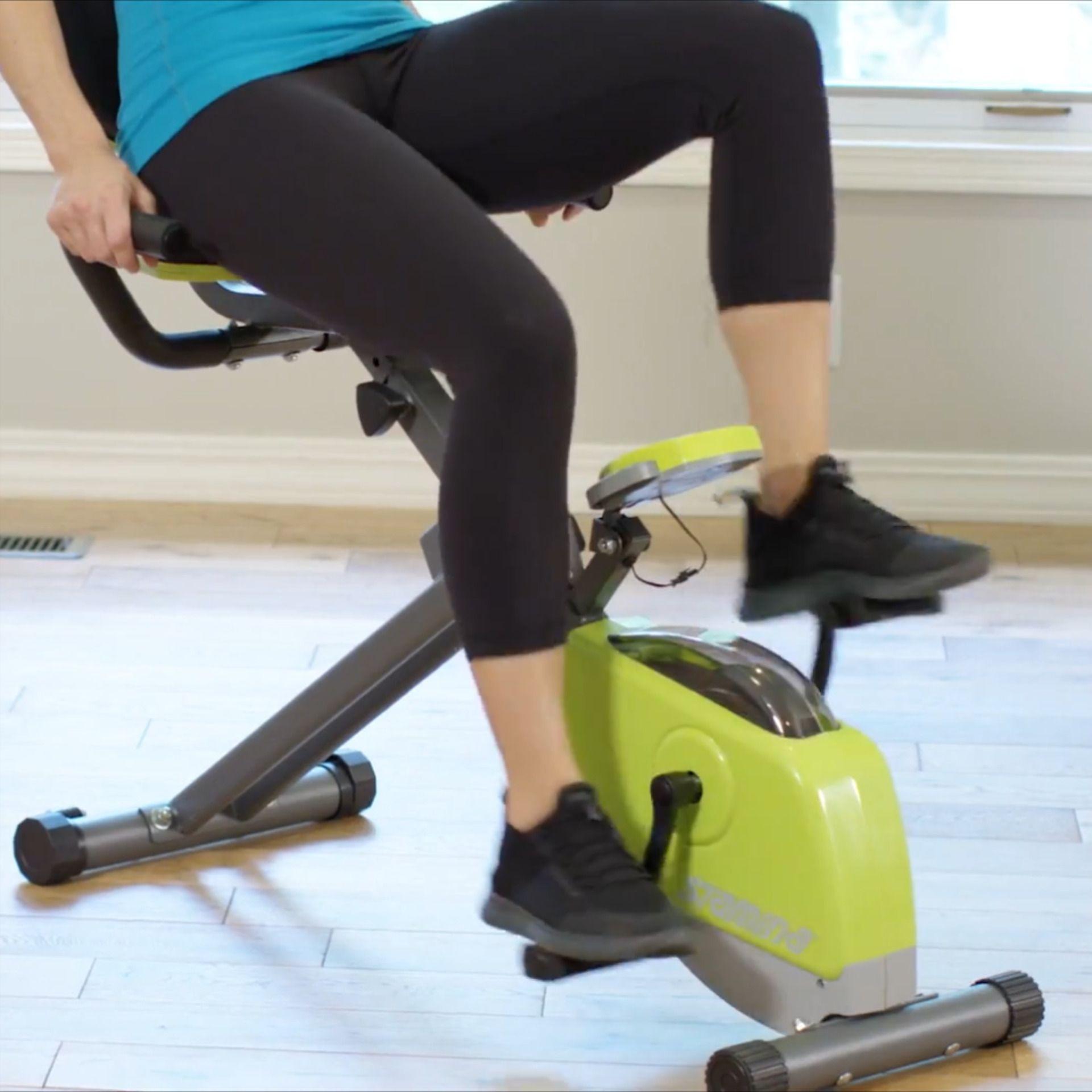 Stamina 4655 Recumbent Air Bike Biking Workout Upright Exercise Bike Cycling Workout