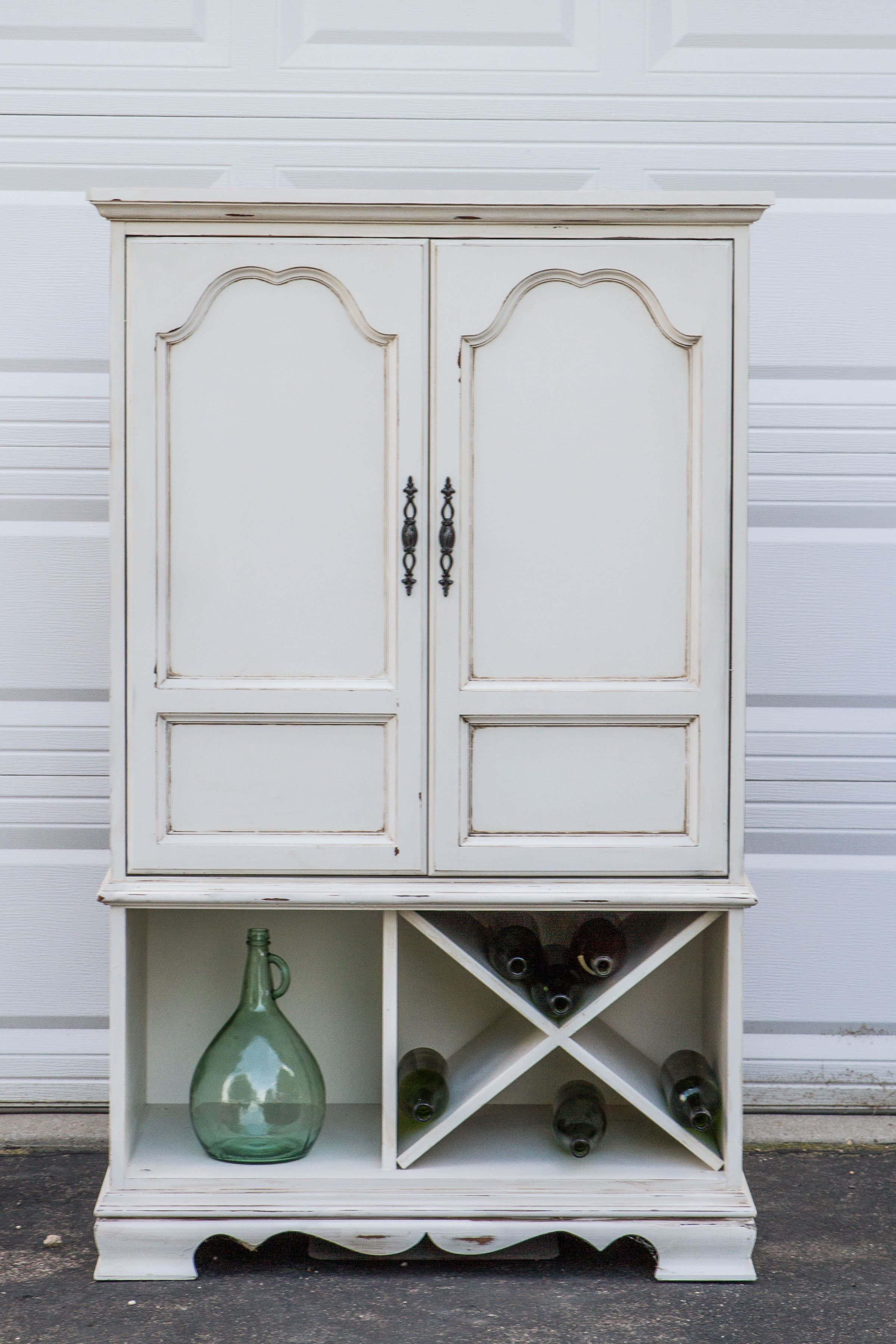 My TV Armoire Repurposed Into A Wine Rack This