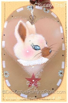 The Decorative Painting Store: Bunny Trail ePacket by Mila Marchetti - Choose File Format, Newly Added Painting Patterns / e-Patterns