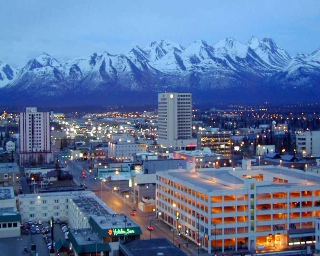 Anchorage alaska we got to see a beautiful city out our
