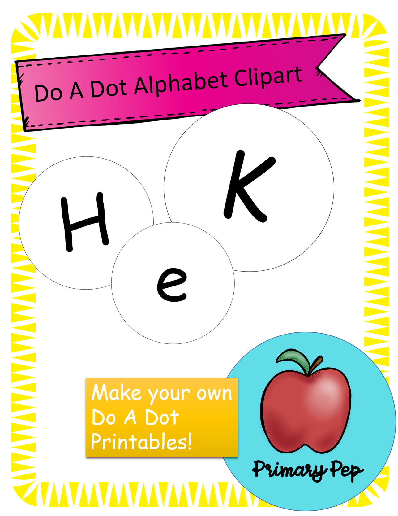 Do A Dot Alphabet Clipart