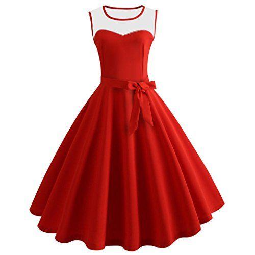 791dc86b156d Vestito Donna Elegante Yesmile Stile Vintage Donne Anni 50 Swing retrò  Casalinga Partito Sera Vestito Donne