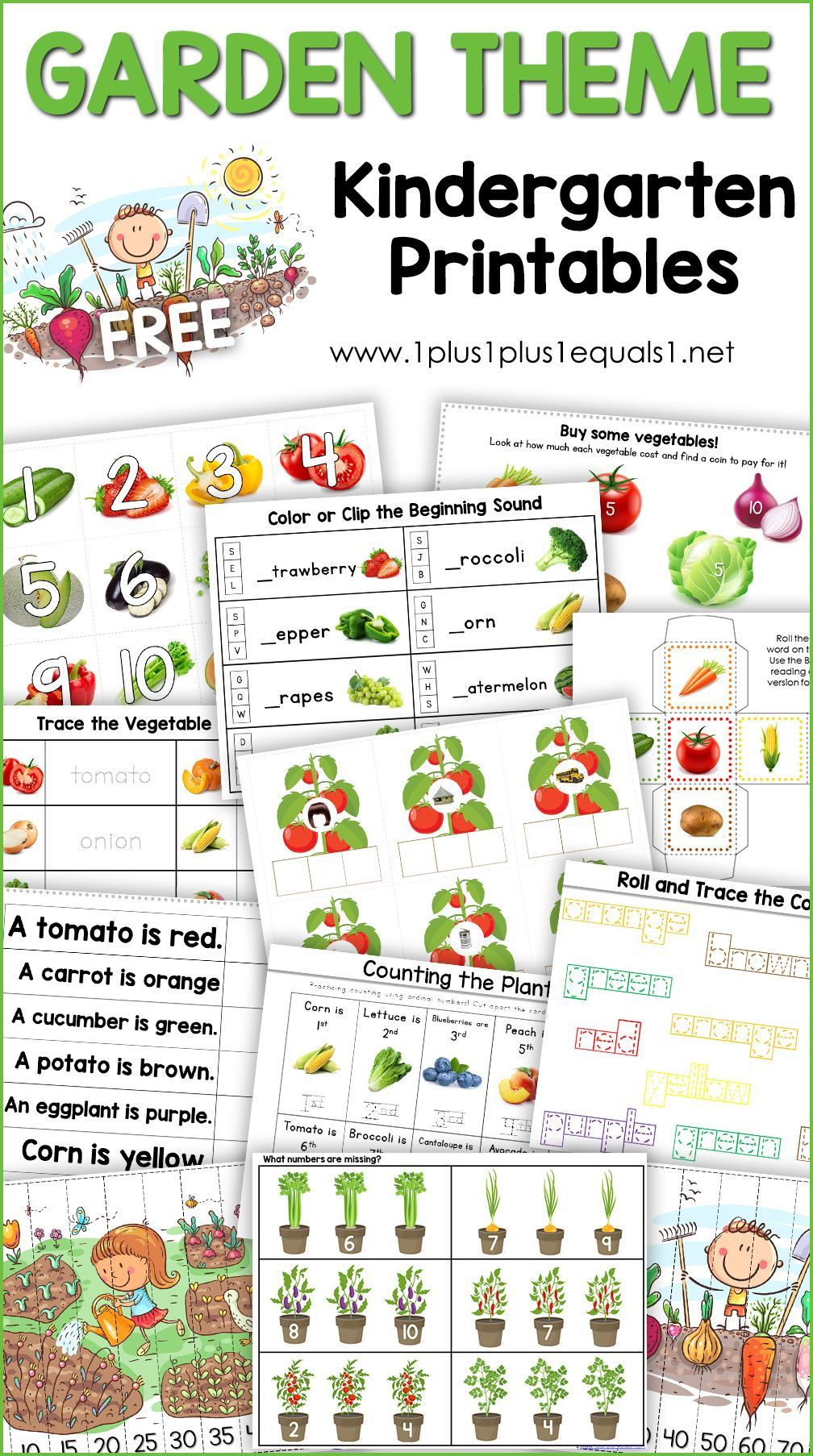 Free Garden Theme Kindergarten Printables 1 1 1 1 In 2021 Garden Theme Kindergarten Kindergarten Printables Free Kindergarten Printables [ 1806 x 1008 Pixel ]