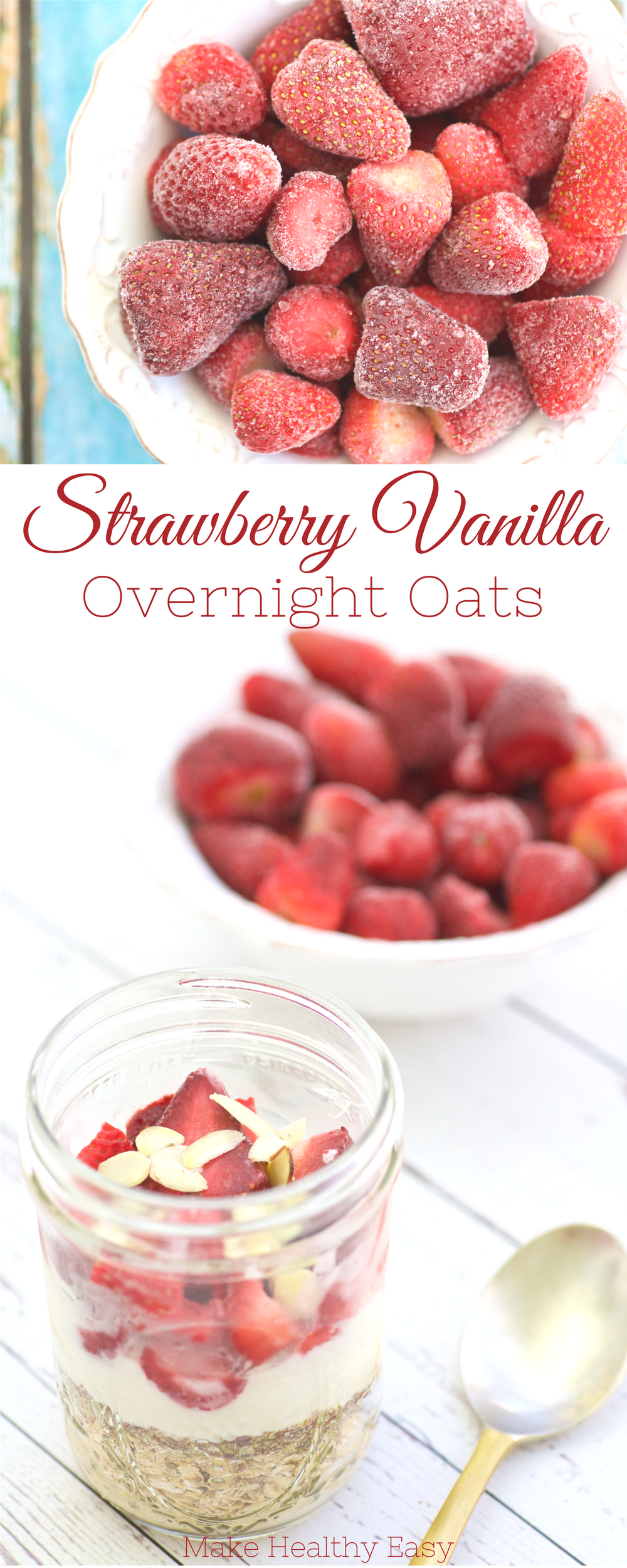Vanilla Overnight Oats Strawberry Vanilla Overnight Oats are easy to make ahead and delicious to enjoy for any meal on the go. These oats are filling thanks to the fiber and protein in Greek yogurt.Strawberry Vanilla Overnight Oats are easy to make ahead and delicious to enjoy for any meal on the go. These oats are filling thanks to the fiber and protein in...