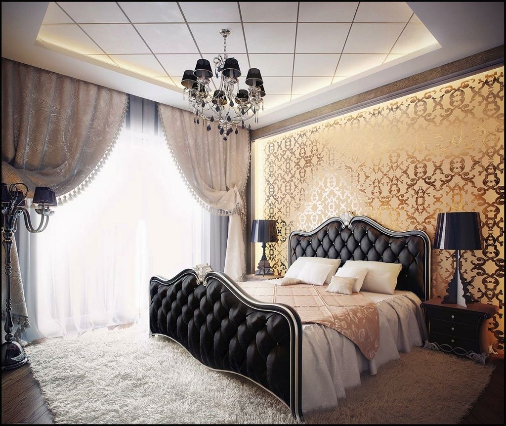 Marvelous Black And Gold Bedroom Design Interior Ideas Decoration Idea