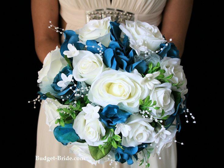 Turquoise Wedding Flowers Inspiration Bride