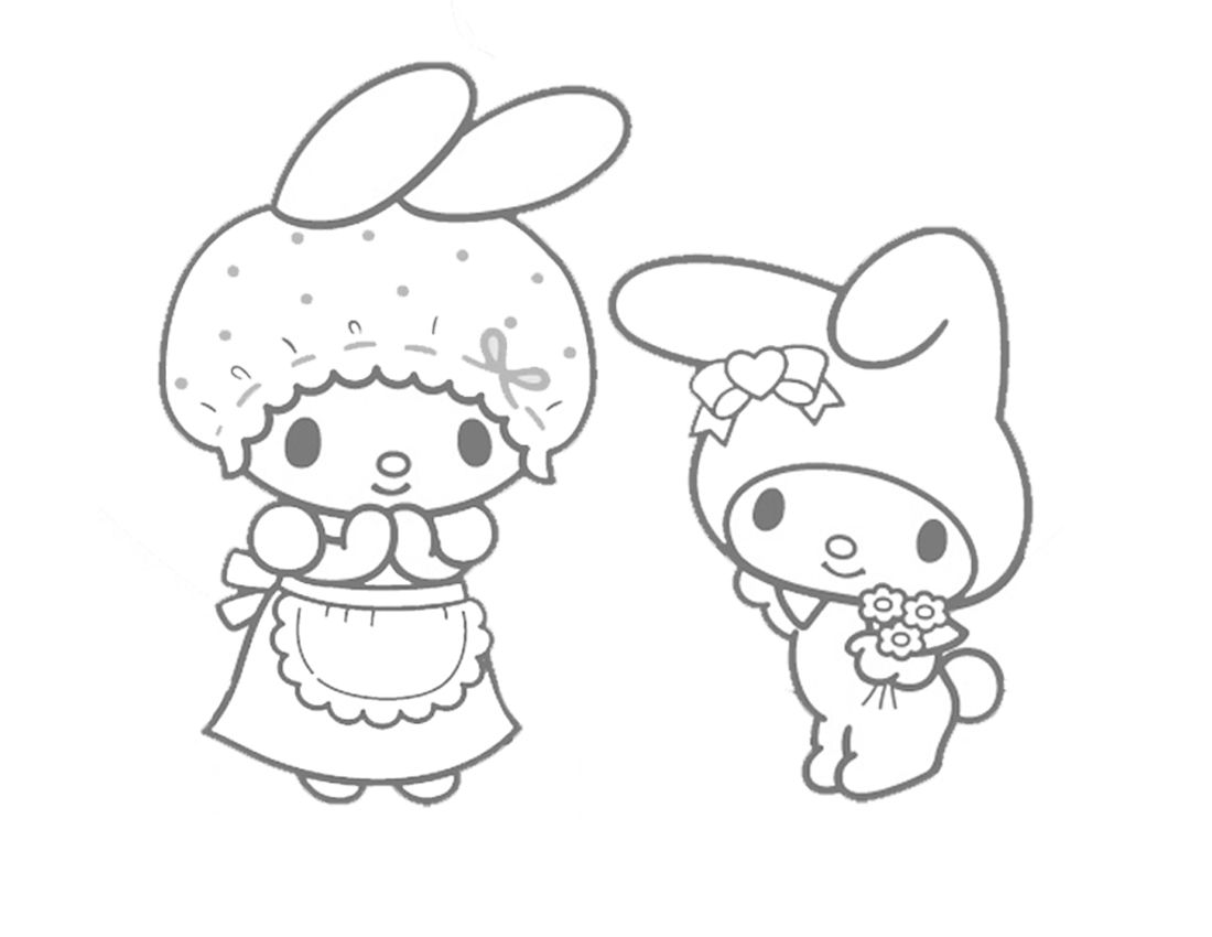 My Melody Colouring Sheets | Coloring pages... | Pinterest | Hello ...