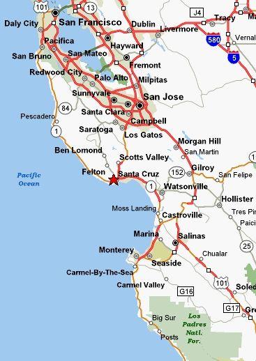 map of santa cruz ca area Santa Cruz Ca Santa Cruz California With Images California map of santa cruz ca area