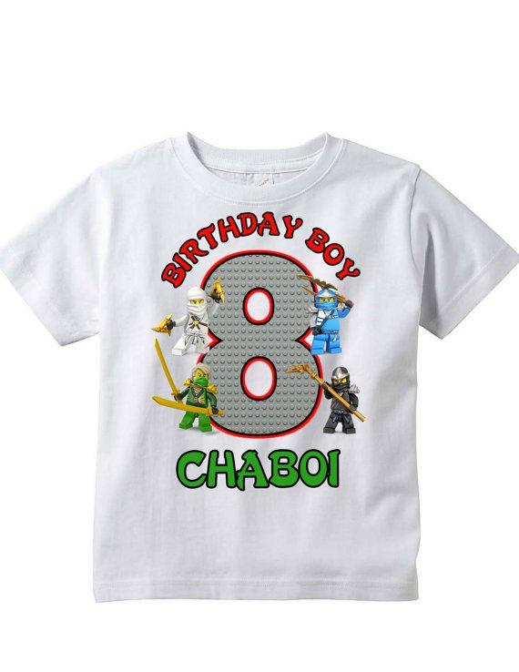 Lego Ninjago Birthday Shirt By KidsDesigns On Etsy 1300