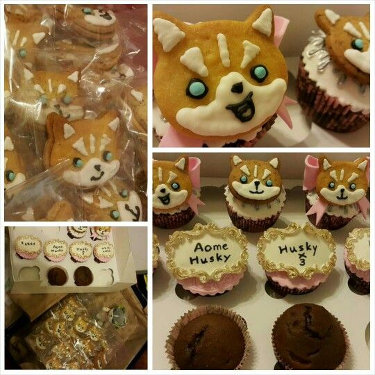 Many Thanks to Kelly's lovely cookies for Husky ○ Angel exhibition grand opening. @wrong gallery Taipei #huskyx3 #husky #lovely #cookie #exhibition #opening