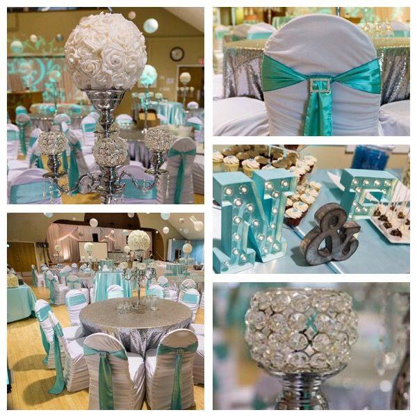 Teal Wedding Ideas For Reception: Tiffany Blue And Silver Sequin! Stunning Wedding Decor