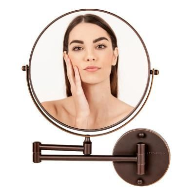 Ovente 10 In X 9 In Wall Mount Mirror 1x 10x Magnification 9 Inch Antique Bronze Mnlfw90abz1x10x In 2020 Wall Mounted Mirror Mirror Wall Mount