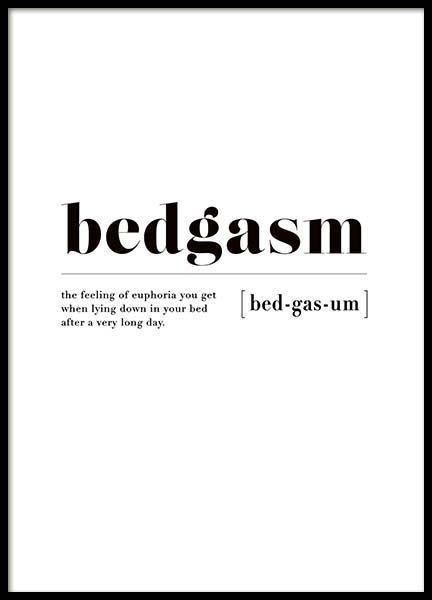 Photo of Cartel de Bedgasm en un póster de grupo / póster de tipografía en Desenio AB (3345) – Sprü …