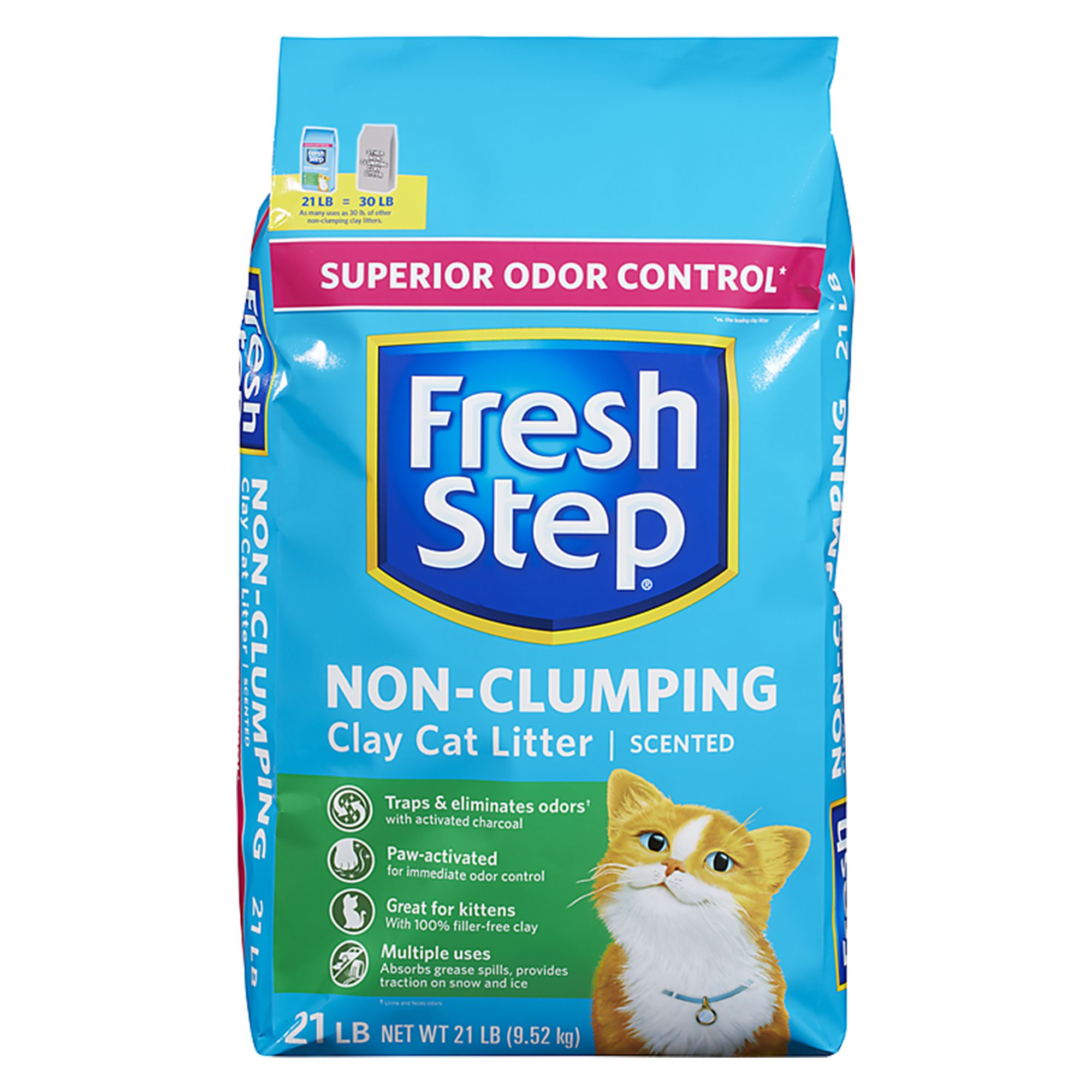 Fresh Step Clay Cat Litter size 21 Lb, gray/wash