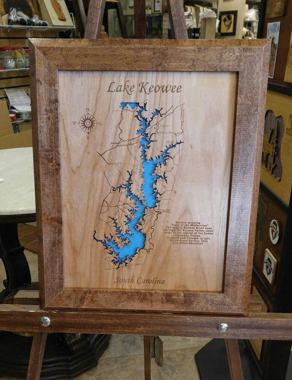 This is a beautifully detailed, laser engraved and precision ... Topo Map Of Lake Keowee on topo map of lake wateree, topo map of lake murray, topo map of lake lanier, topo map of lake chatuge, topo map of smith mountain lake, topo map of dale hollow lake, topo map of lake of the ozarks,