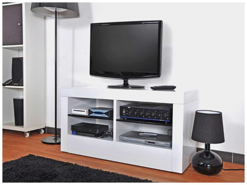 Meuble Tv Blanc Sur Roulettes Elegant Meuble Tele Sur Roulette