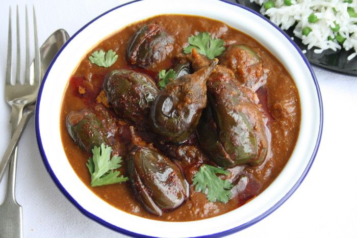 Eggplant Curry - Kashmiri Khatte Baingan