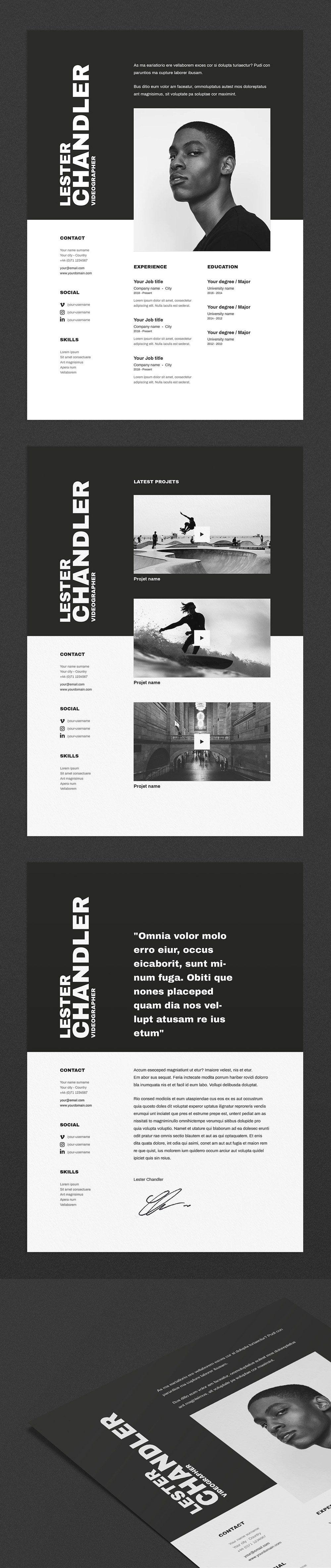 Lester CV / resume template Modèle cv, Modelisme