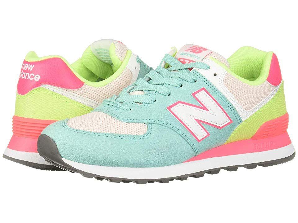 9f71ff2f7c3b5 New Balance Classics WL574 Summer Sport Women's Classic Shoes Light  Tidepool/Pink Mist