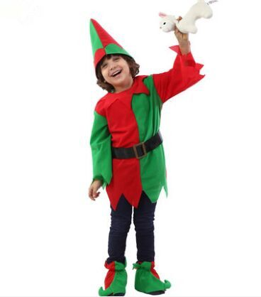 funny Christmas costumes for children halloween cosplay for kids red