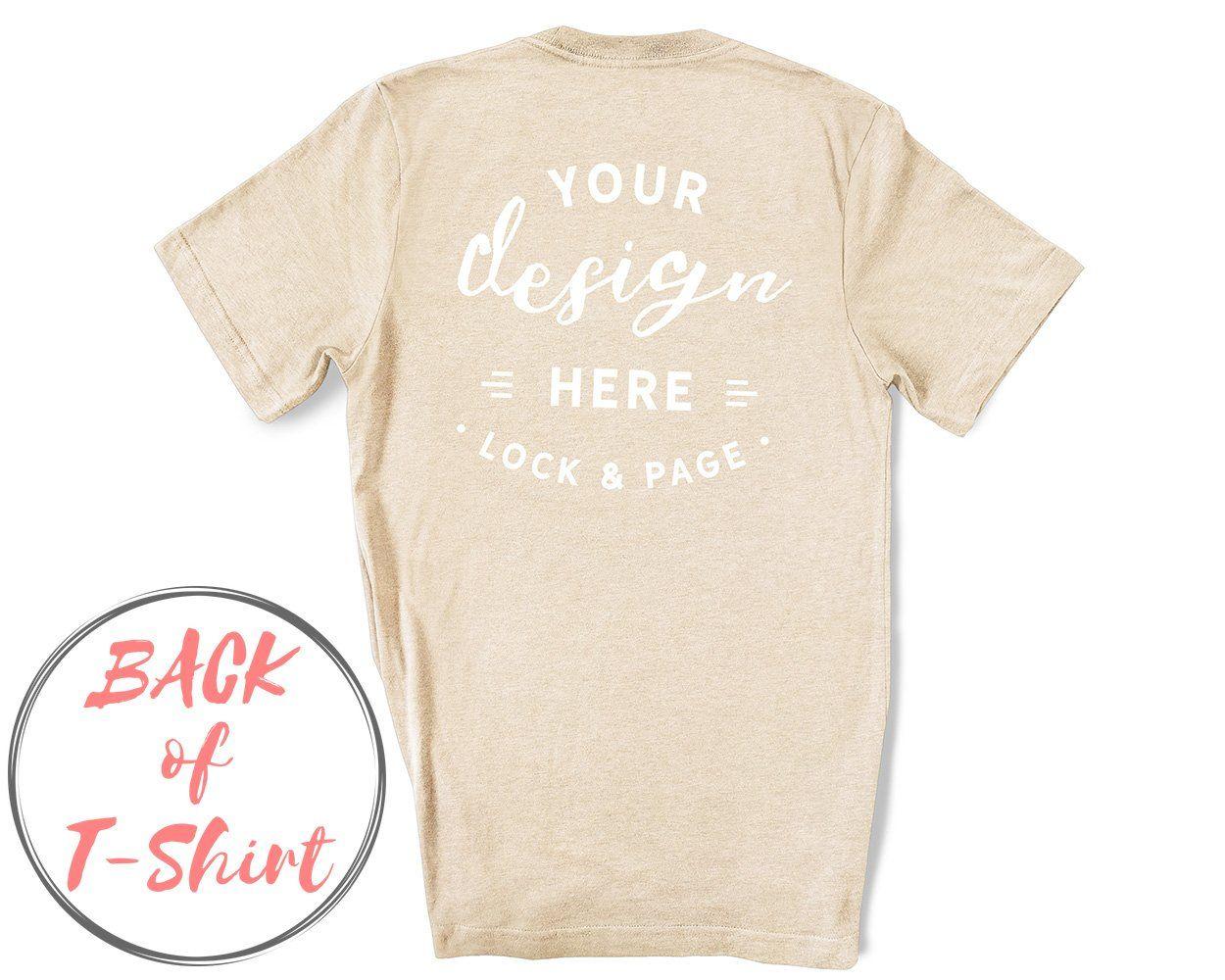 Download Back Of T Shirt Bc3001 Mockup Bundle Shirt Mockup Mockup Free Psd Tshirt Mockup