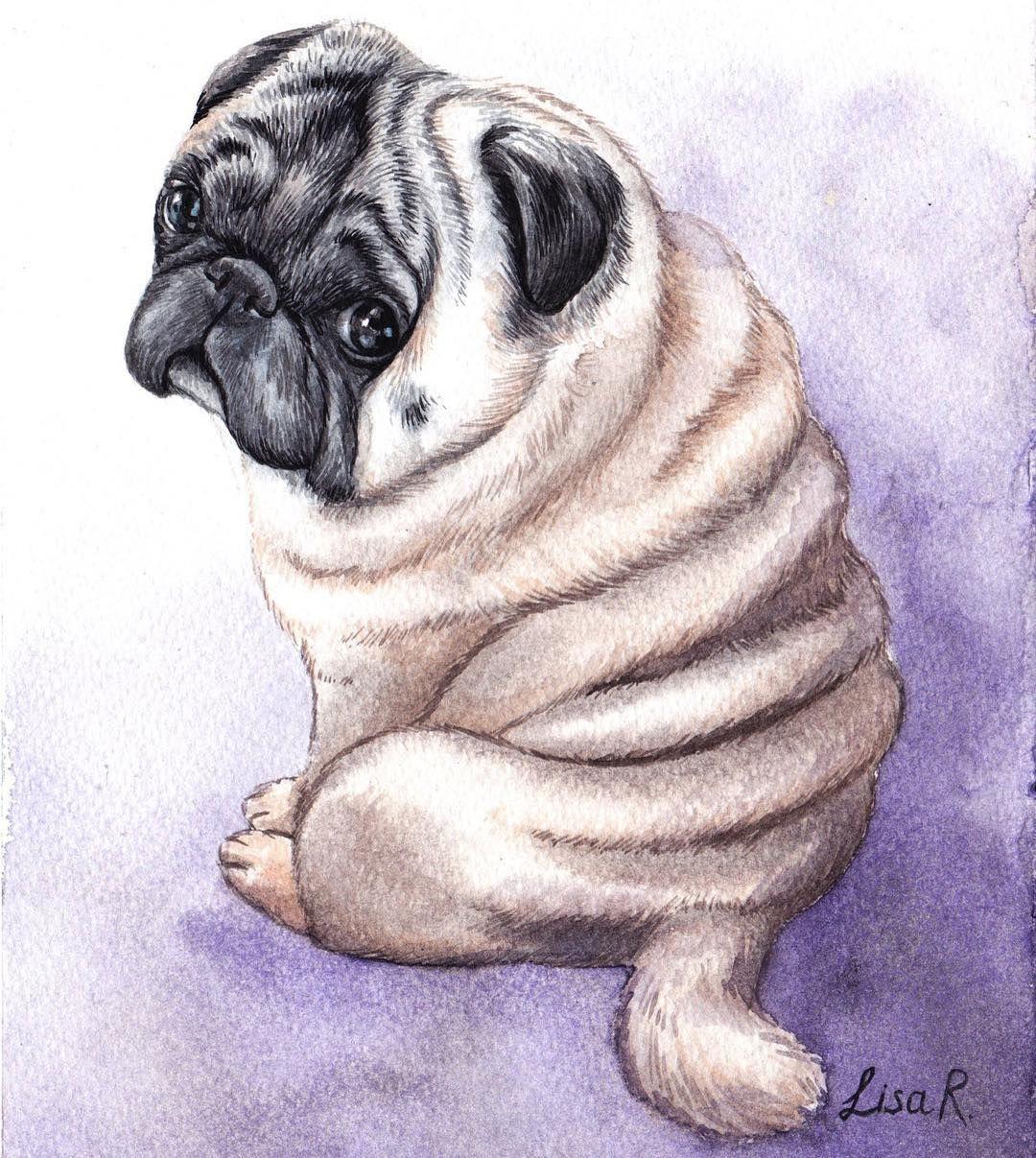 Lisa Creative Lab Watercolor Custom Pet Portrait Dog Portrait