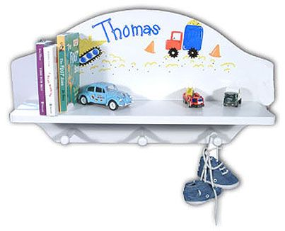Personalized toy shelf available in natural or white finish toy showcase babys toys and books and add a charming touch to babys nursery personalized negle Gallery