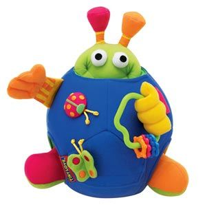 Tiny Love Activity Ball An interactive soft activity toy designed to stimulate your child to explore, touch and sound through various textures and activities. Baby taps the ball and is rewarded with 5 magical sounds. http://www.comparestoreprices.co.uk/baby-toys/tiny-love-activity-ball.asp