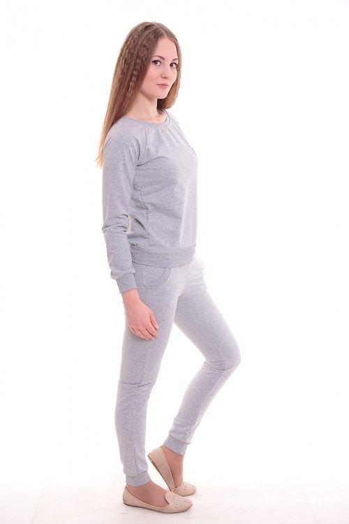 Спортивный костюм А3650 Размеры: 42,44,46,48,50 Цвет: серый Цена: 900 руб.  http://optom24.ru/sportivnyy-kostyum-a3650/  #одежда #женщинам #спортивныекостюмы #оптом24