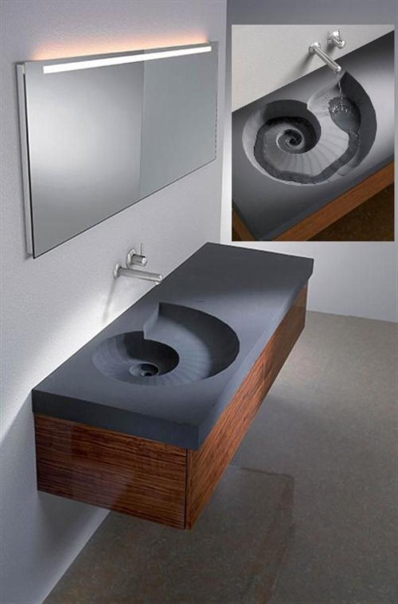 Bathroom sinks unique bathroom sinks heart shaped sink for Unique small bathroom designs