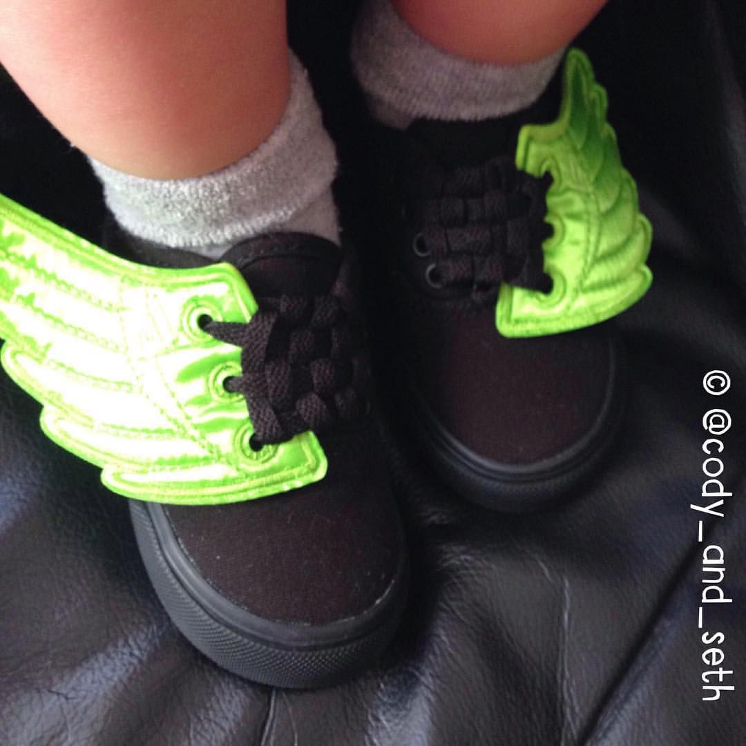 73f67381eb8 Danger wears Vans Toddler skate shoes and neon Shwings (shoe wings) from  Tiptoe   Co. Tap original photo for shop details ✌️