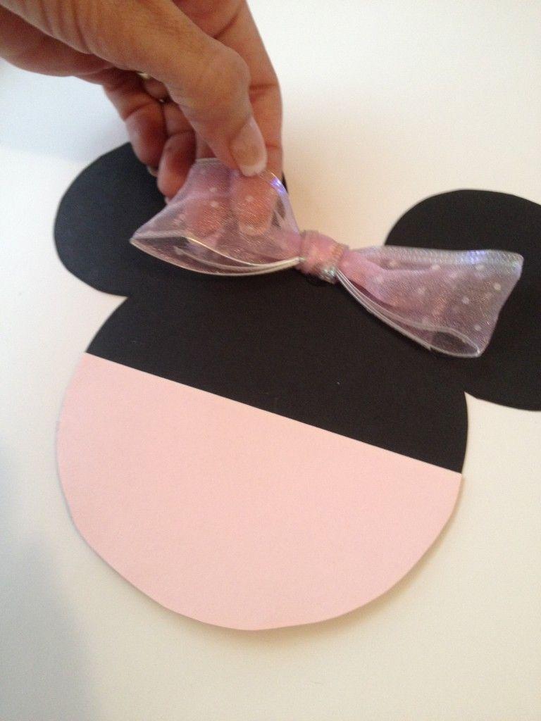 DIY Minnie Mouse Ears Invitation Template