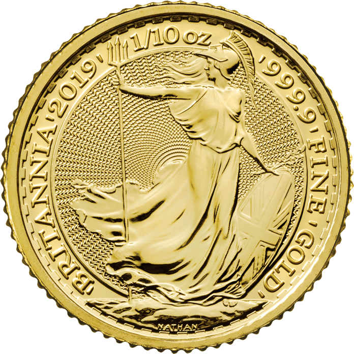 Britannia 2019 1 10 Oz Gold Coin Gold Coins Buy Gold And Silver Coins