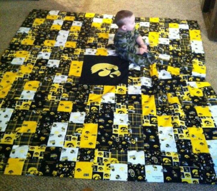 Iowa Hawkeye quilt made by my daughter | Hawkeye love | Pinterest ...