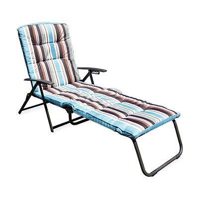 Wilson Fisher Stripe Padded Folding Outdoor Lounge Chair Big Lots In 2020 Lounge Chair Outdoor Affordable Outdoor Furniture Big Lots Patio Furniture