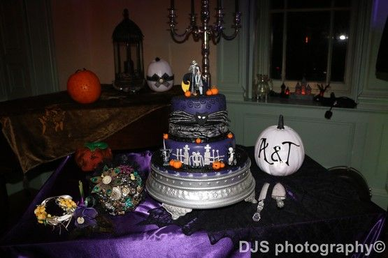 The Nightmare before Christmas Jack and Sally wedding cake DJS
