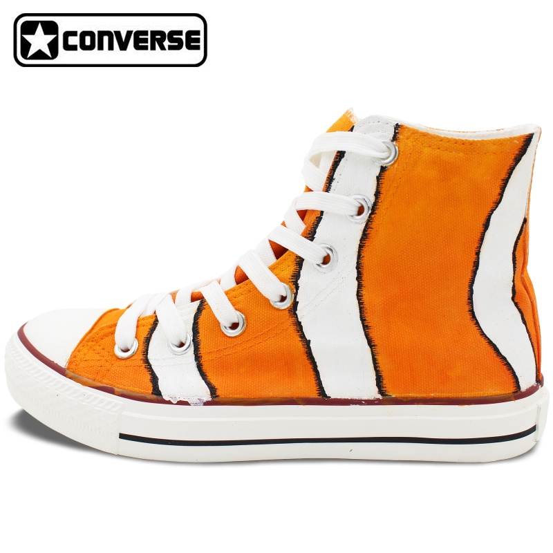 125.00$  Watch now - http://alioq6.shopchina.info/1/go.php?t=32763216431 - New Shoes Clownfish Hand Painted Shoes Converse Chuck Taylor High Top Canvas Sneakers Christmas Gifts for Boys Girls 125.00$ #buyonline